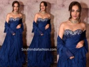 seerat kapoor in blue ruffle saree