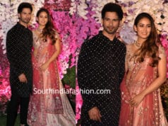 shahid kapoor and mira raput at akash ambani wedding reception
