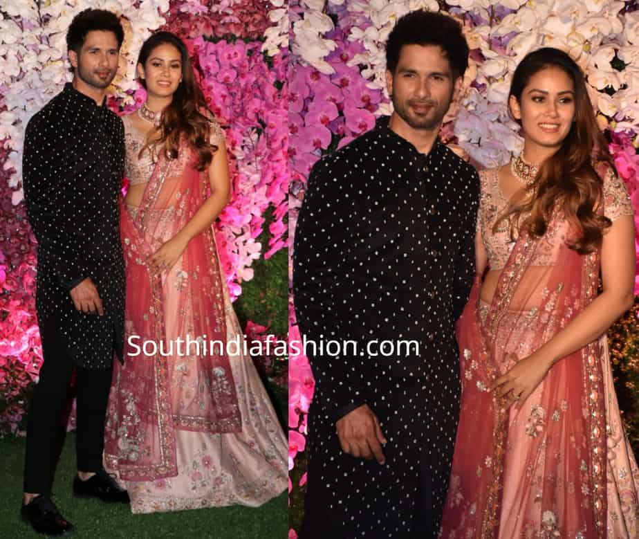 shahid kapoor and mira raput at akash ambani wedding reception