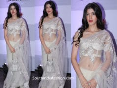 shanaya kapoor in white saree by abu jani sandeep khosla