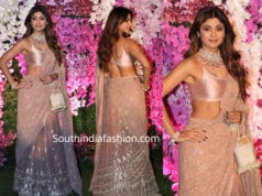 shilpa shetty saree at akash ambani wedding reception