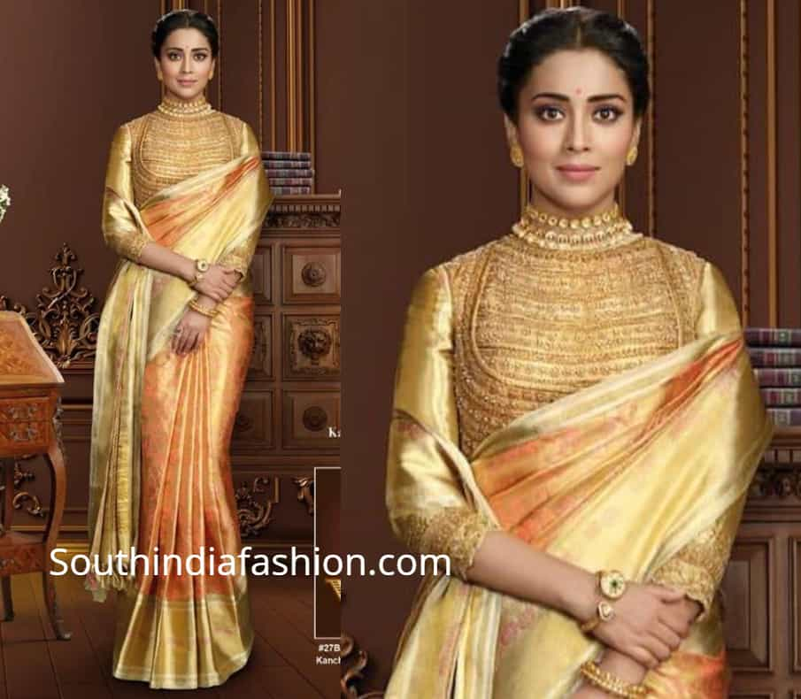 shriya saran in vrk silks pattu sarees ad