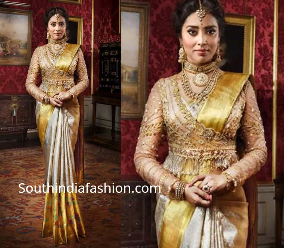shriya saran in silk saree by vrk silks