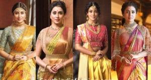 shriya saran in vrk silks sarees and designer blouses