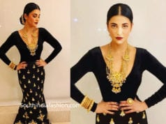 shruti haasan in black dress at venkatesh daughter wedding reception