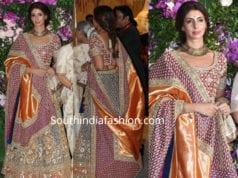shweta bachchan lehenga at akash ambani wedding