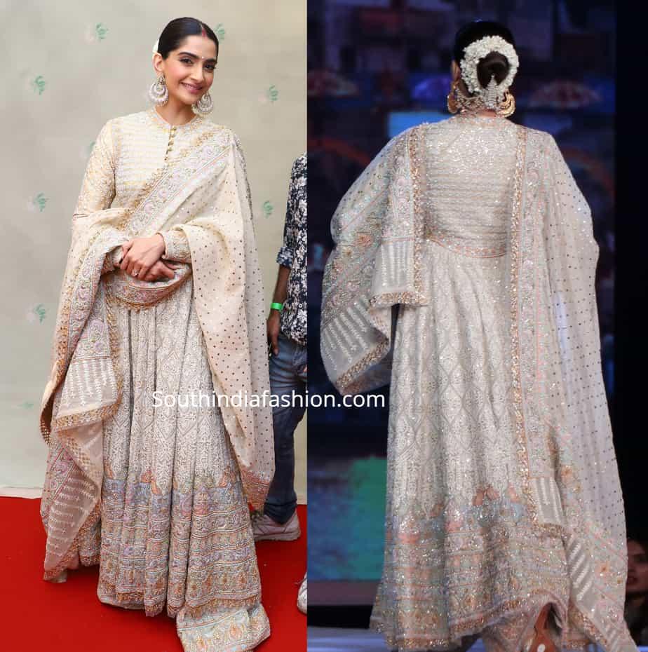 sonam kapoor in abu jani sandeep khosla at cpaa fashion show