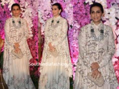 sunita kapoor dress at akash ambani wedding