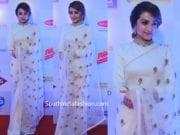 trisha krishnan in white saree at world of women 2019