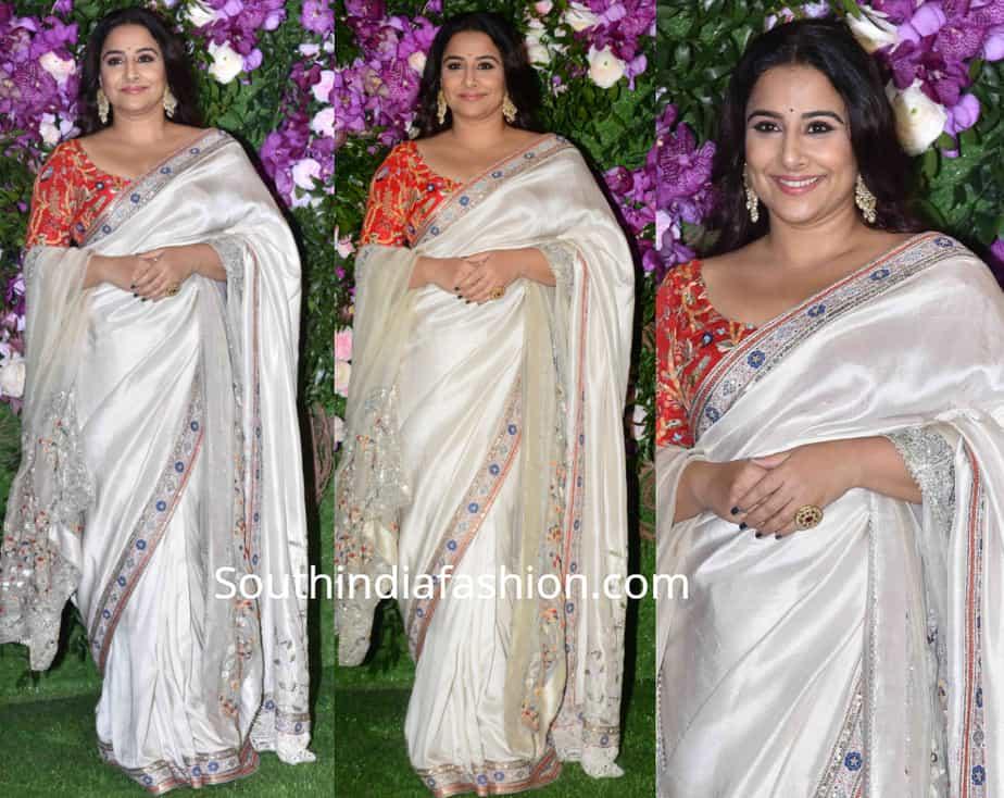 vidya balan saree at akash ambani wedding