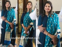 viranica manchu blue salwar kameez at ys jagan house warming