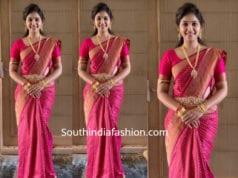 anjali pink banarasi saree