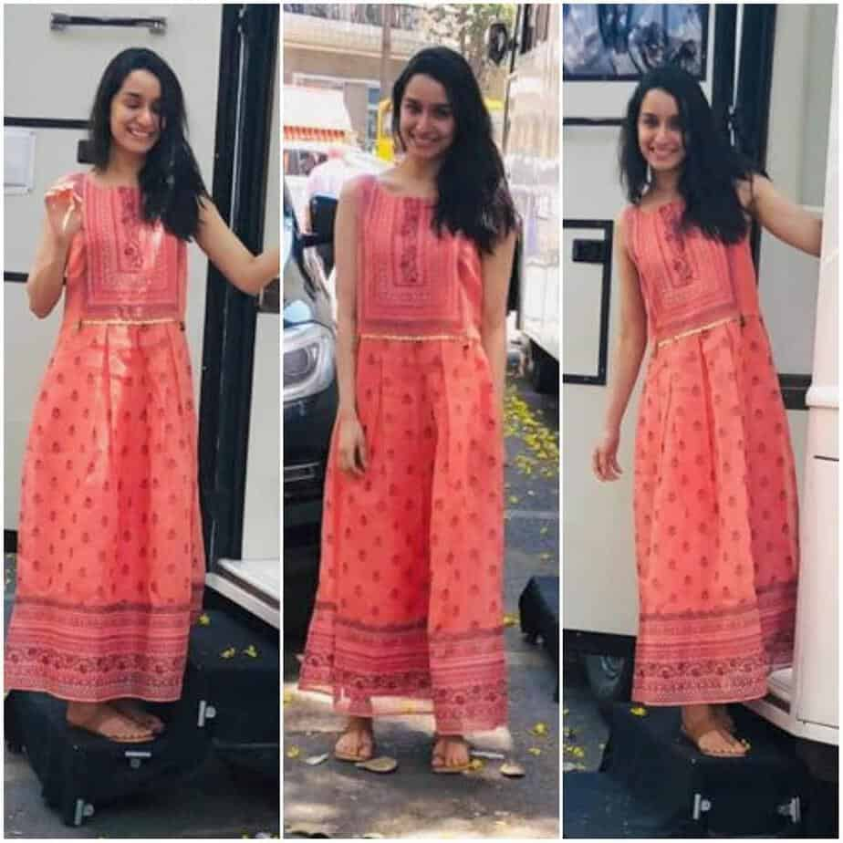 shraddha kapoor in global desi maxi dress
