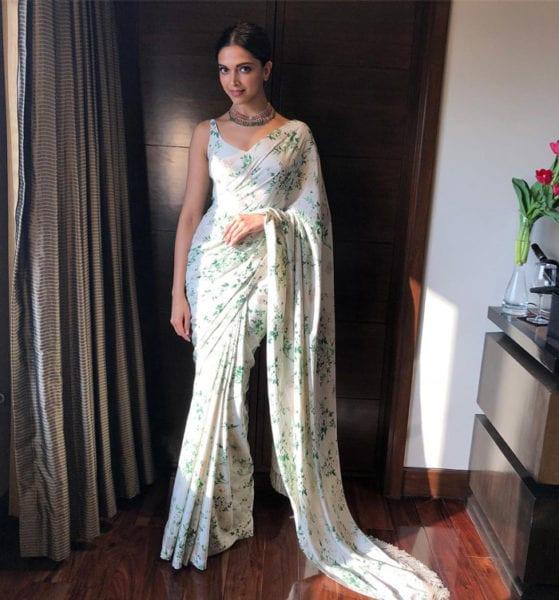 Deepika-Padukone sabyasacho floral saree