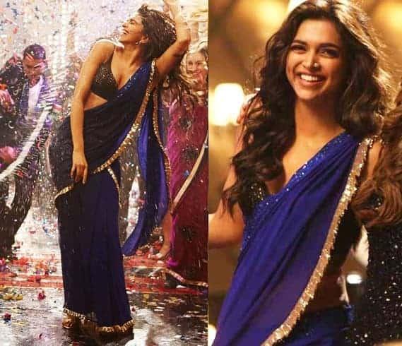 Deepika-Padukone yjhd naina blue saree