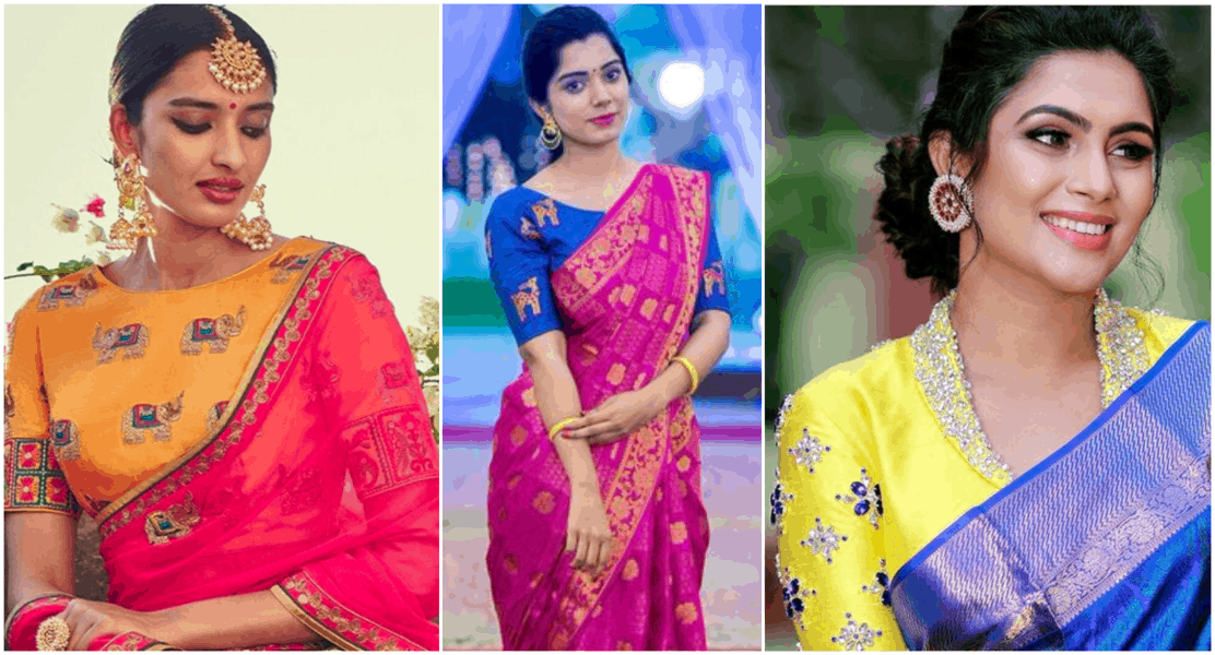 Mix and Match your Blouse with Sarees