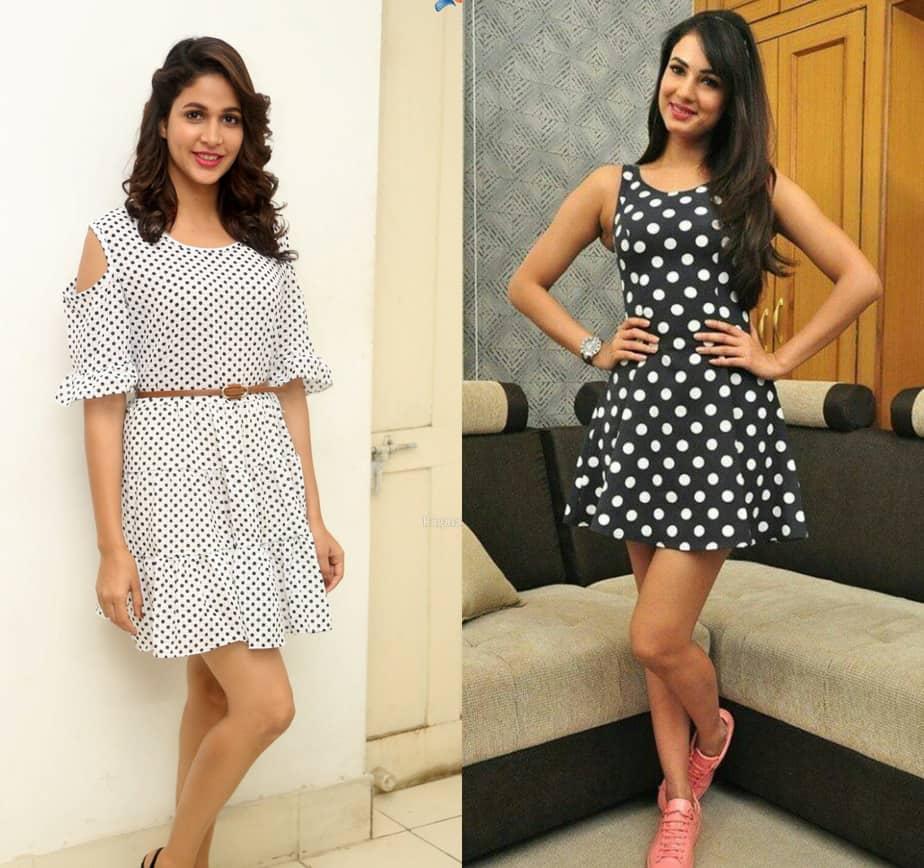 indian actress polka dot outfits