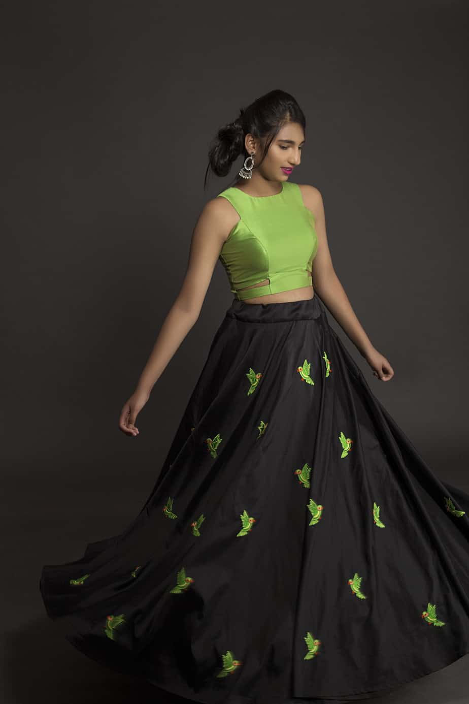 Long Skirt And Crop Top Sets By Kanakadhara Designs