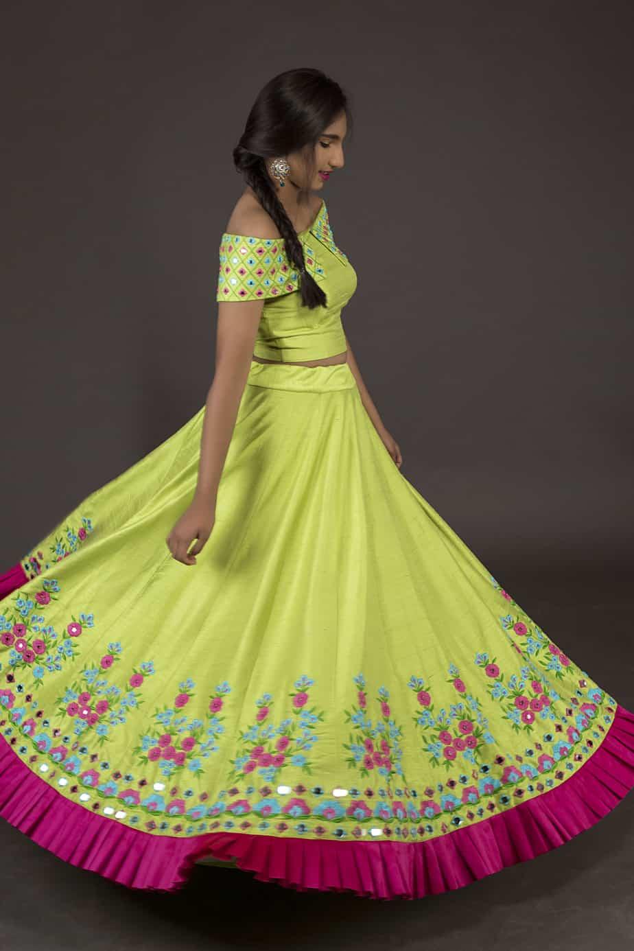 Long Skirt And Crop Top Sets By Kanakadhara Designs