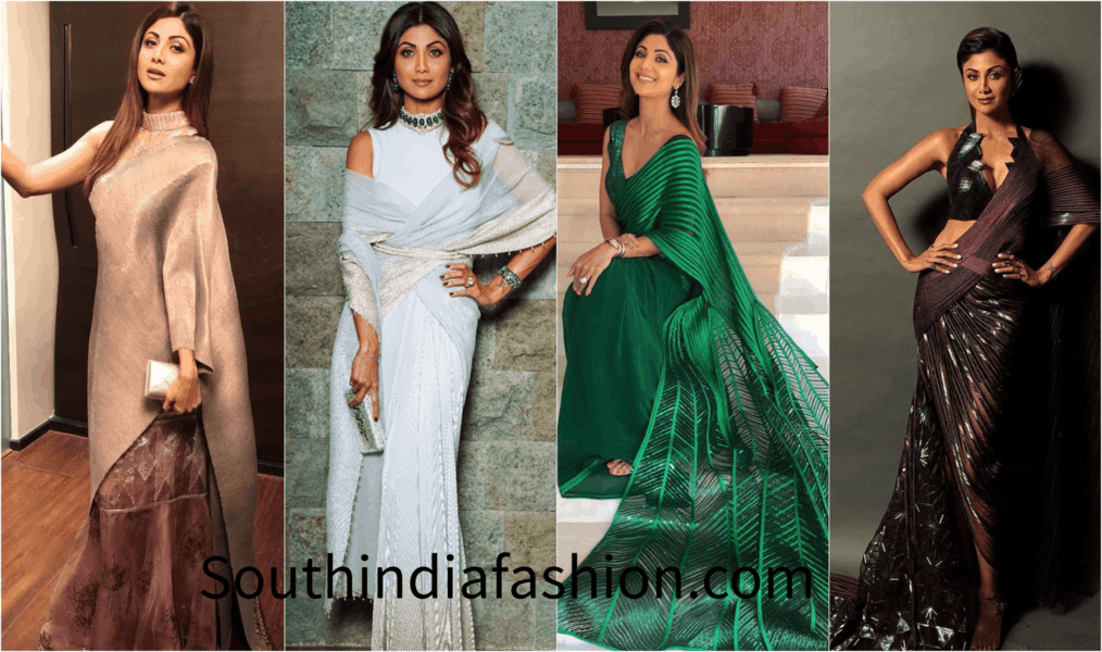 Shilpa Shetty's Way of Wearing Saree with a Twist of Fusion