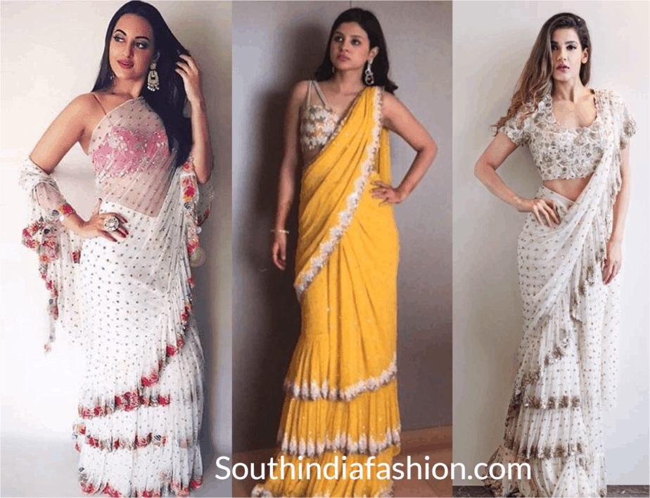 Ruffle Saree to Elevate your Fashion Quotient