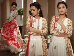 shraddha srinath in label anushree dress