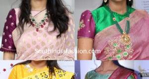 silk saree blouse design 2019