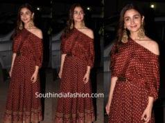 alia bhatt in sabyasachi dress for kalank promotions