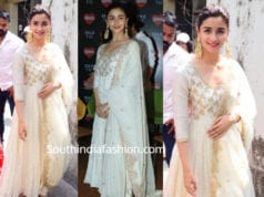 alia bhatt white gold anarkali kalank promotions