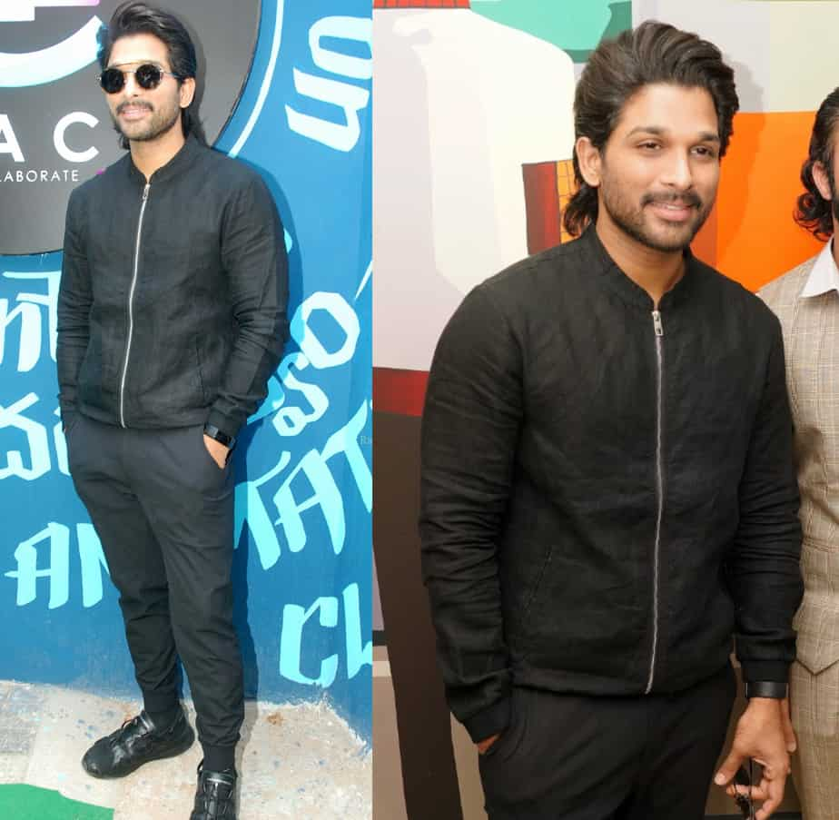 allu arjun black jacket