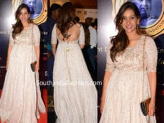 anushree reddy in white anarkali at dadasaheb phalke awards 2019