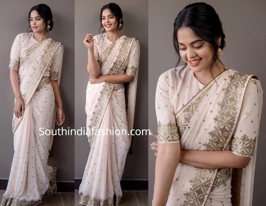 bindu madhavi in white saree