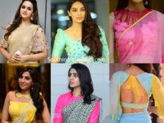 chiffon saree blouse designs