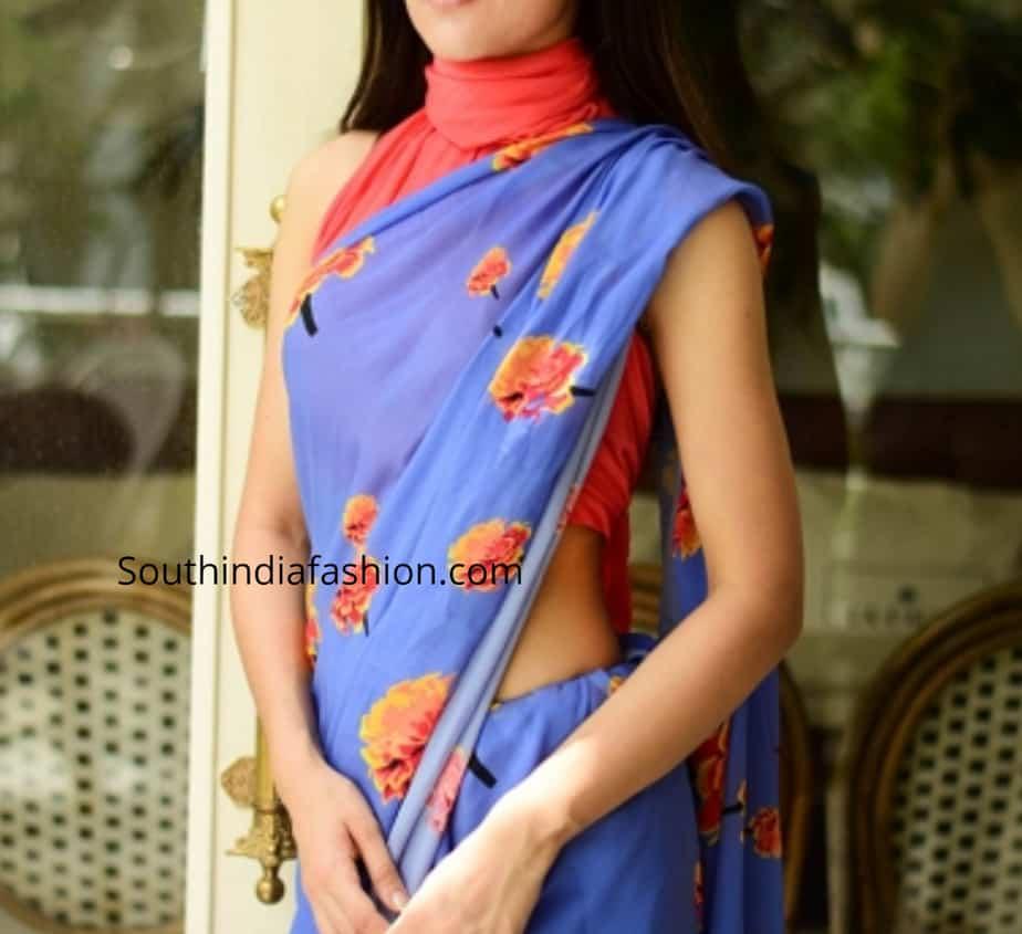 chiffon saree blouse designs 2019