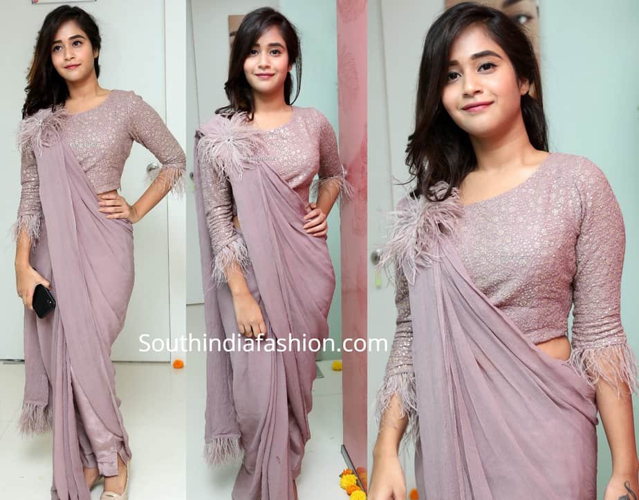 deepthi sunani in pant saree