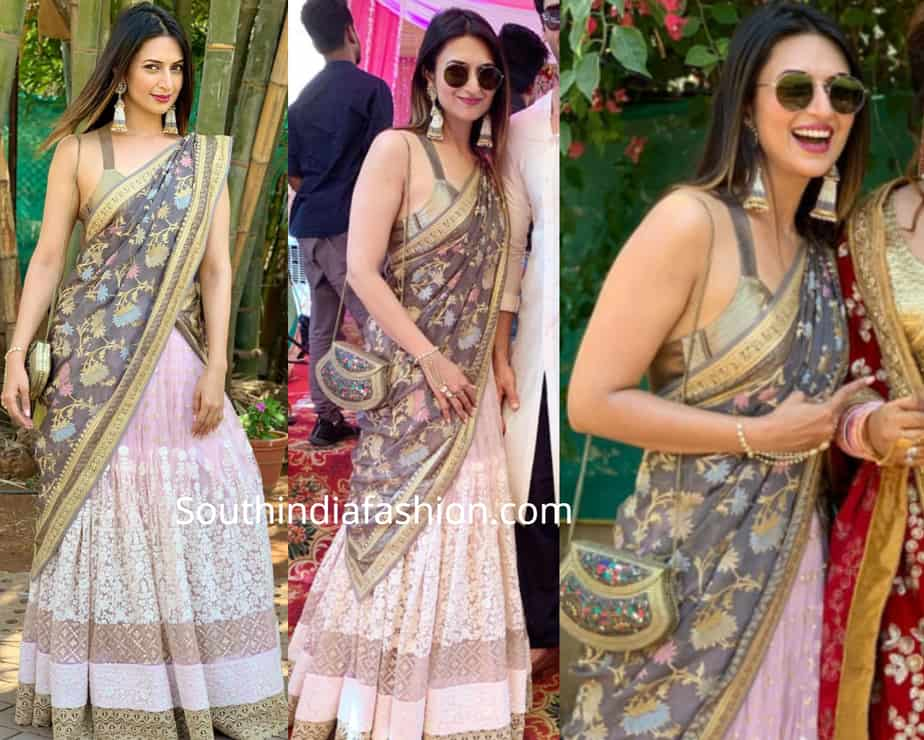 divyanka tripathi lehenga at a wedding