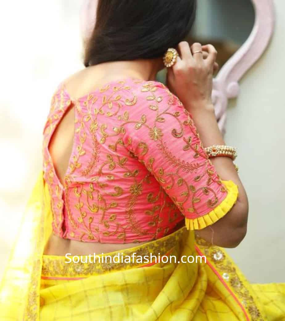pattu saree blouse designs 2019