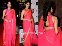 janhvi kapoor in pink saree at dadasaheb phalke awards 2019