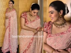 kajol in tarun tahiliani saree