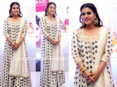 kajol white anarkali joyalukkas launch