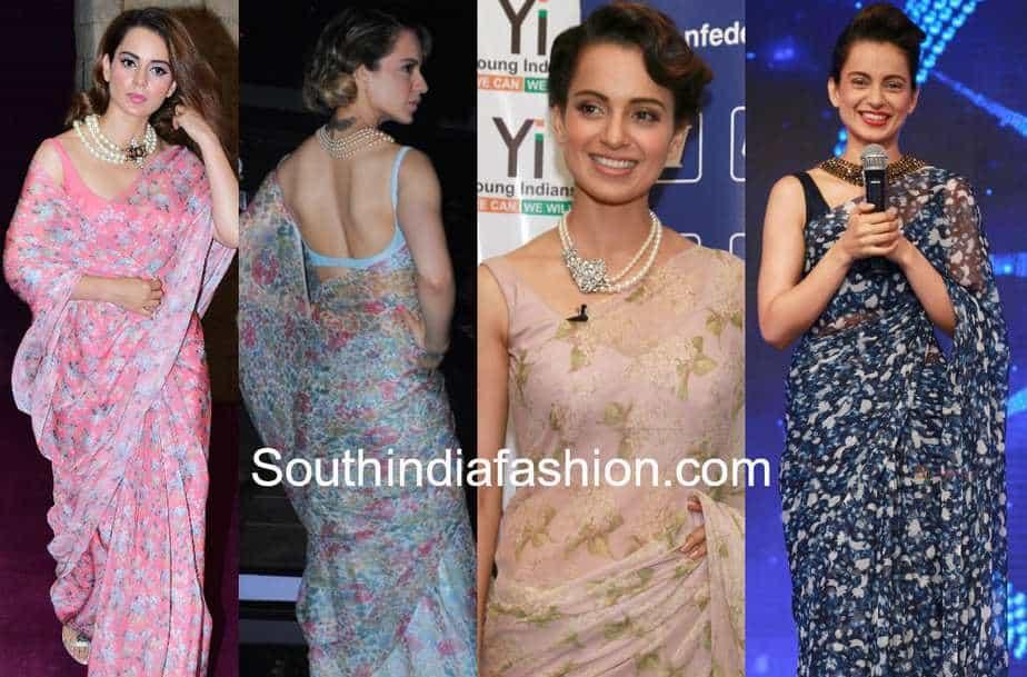 sleeveless blouse with chiffon sarees