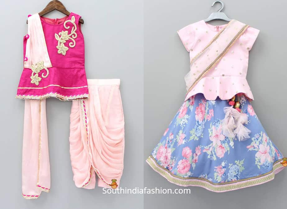 indian ethnic wear for baby girl