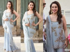 madhuri dixit in grey sharara at kalank promotions