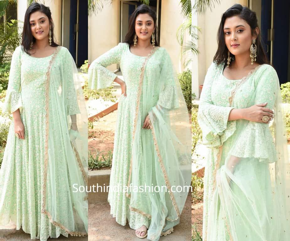 megha chowdary green dress
