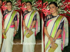 mini mathur in raw mango saree