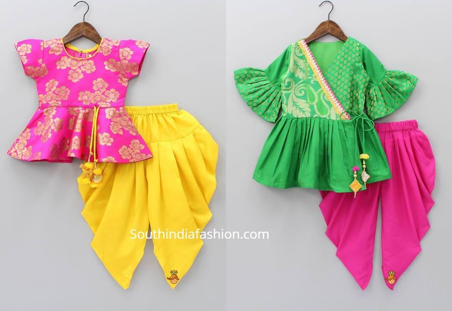 small girls dhoti pant kurti