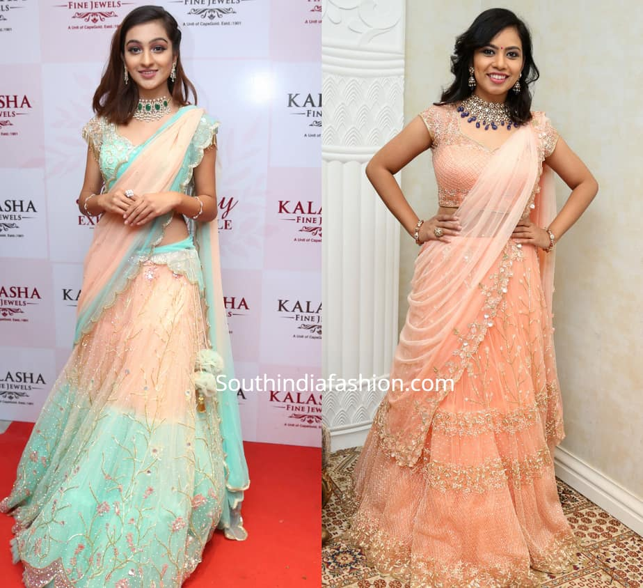 pastel bridal lehengas by mugdha art studio