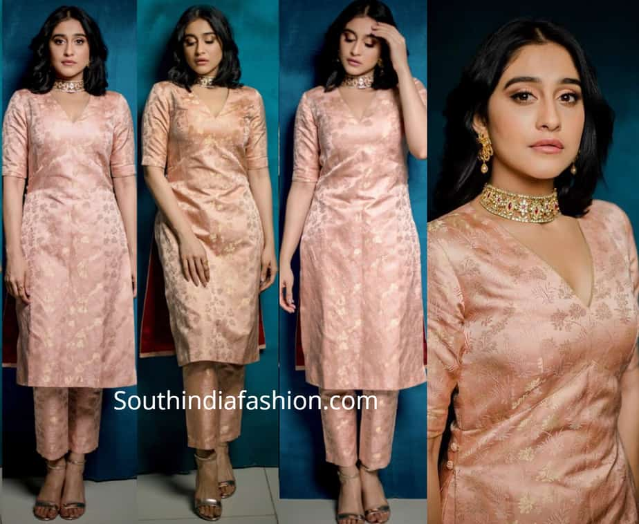 regina cassandra in raw mango kurta cigarette pants at times food awards 2019