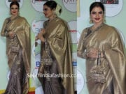 rekha in kanjeevaram saree at globalspa awards