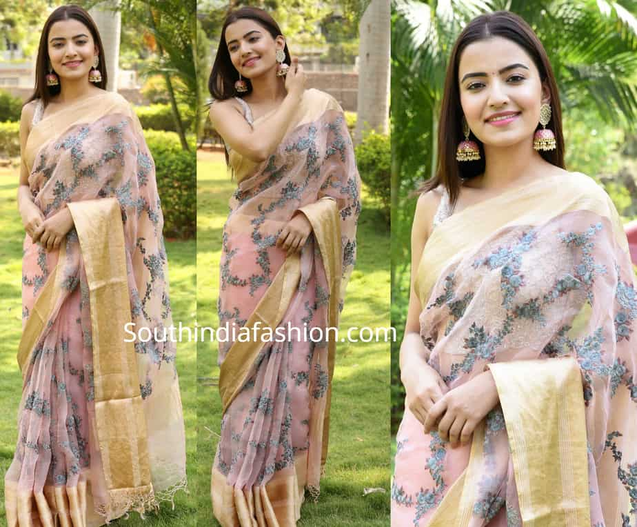 rukshar dhillon in saree at abcd trailer launch